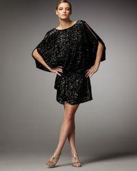 Mandalay   Black Cold Shoulder Sequin Dress   Lyst