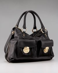 Marc Jacobs | Black Carla Double-pocket Satchel | Lyst