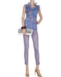 Marc Jacobs Purple High-rise Skinny Jeans