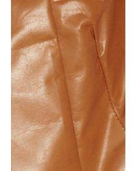Marni Brown Laser-cut Leather Jacket