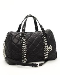 MICHAEL Michael Kors | Black Quilted Chain-detail Bag, Large | Lyst