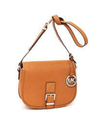 MICHAEL Michael Kors | Orange Medium Saddle Bag Messenger, Luggage | Lyst