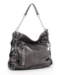 MICHAEL Michael Kors | Miller Large Shoulder Bag, Metallic Python-embossed | Lyst