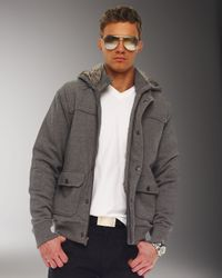 Michael Kors - Gray Fur-lined Hooded Jacket for Men - Lyst