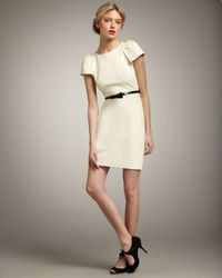 MILLY | White Addison Puff-sleeve Dress | Lyst
