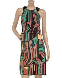 Missoni Black V-neck Crochet Dress