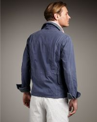 Polo Ralph Lauren Blue Shelter Canvas Jacket for men