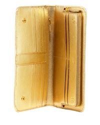 Prada - Metallic Saffiano Leather Large Snap Wallet - Lyst