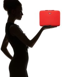Prada Red Nylon Ipad Case