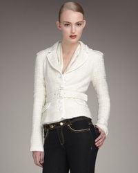 Rachel Zoe White Belted Blazer