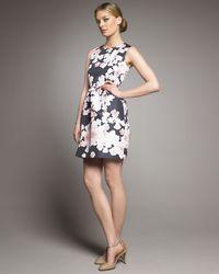 RED Valentino - Black Tulip-skirt Dress - Lyst