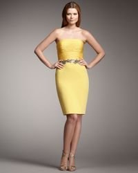Robert Rodriguez | Yellow Faith Ruched Bodice Dress | Lyst