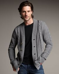 Royal Underground | Gray Cable-knit Cardigan for Men | Lyst