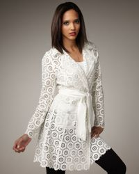 Royal Underground | White Sheer Lace Trench | Lyst