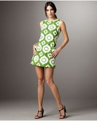 Shoshanna | Green Sleeveless Ikat Dress | Lyst