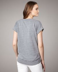 Splendid | Gray Short-sleeve Sweatshirt | Lyst