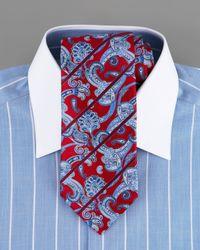 Stefano Ricci | Striped Dress Shirt, Light Blue for Men | Lyst