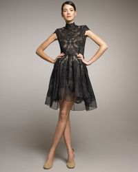 Stella McCartney | Black Lace Full-skirt Dress | Lyst