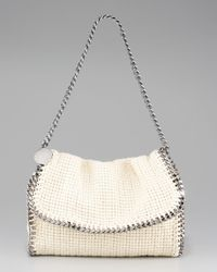 Stella McCartney | Blue Falabella Chain-trim Shoulder Bag | Lyst