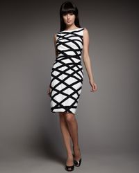 Tadashi Shoji | White Lattice Sheath Dress | Lyst