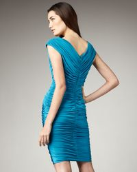Tadashi Shoji | Blue Ruched Butterfly Dress | Lyst