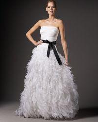 Tadashi Shoji | White Organza-bottom Silk Ball Gown | Lyst