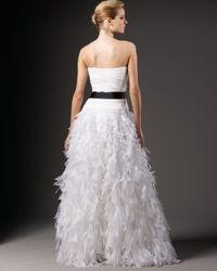 Tadashi Shoji - White Organza-bottom Silk Ball Gown - Lyst