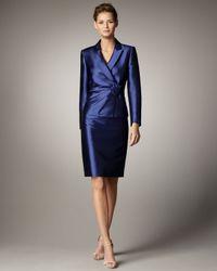 Tahari | Blue Rosette-detail Suit | Lyst