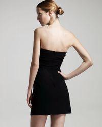 Theory - Black Strapless Back-zip Dress - Lyst