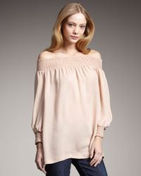 Theory | Pink Off-the-shoulder Top | Lyst