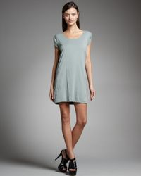 Theory | Green Pima T-shirt Dress | Lyst