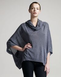 Theory | Gray Hooded Jersey Cape | Lyst