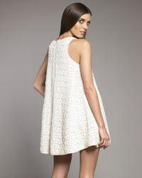 Tibi - White Lace Trapeze Dress - Lyst