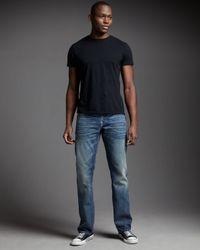 True Religion | Black Ricky Straight Mens Jean for Men | Lyst