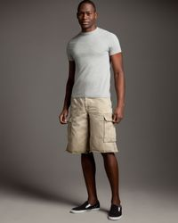 True Religion | Natural Isaac Cargo Shorts for Men | Lyst