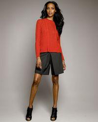 TSE | Black Tropical-wool Skort | Lyst