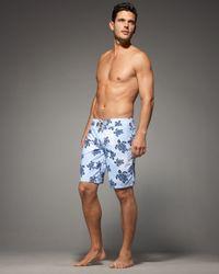 Vilebrequin - Blue Turtle-print Ocean Boardshorts for Men - Lyst