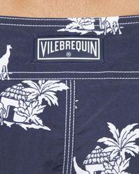 Vilebrequin - Blue Giraffe-print Ocean Boardshorts for Men - Lyst