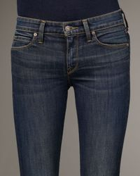 Vince | Blue Aurora Cropped Baby Bell Jeans | Lyst
