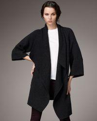 VINCE | Black Sweater Coat | Lyst