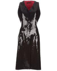 Alexander McQueen Black Sequin Waistcoat