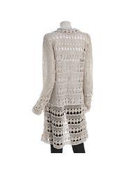 Free People | White Harmony Crochet Cardi | Lyst
