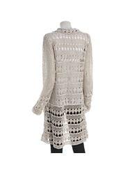 Free People - White Harmony Crochet Cardi - Lyst
