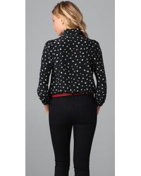 Marc By Marc Jacobs - Black Kristi Print Blouse - Lyst