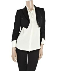 Boutique Moschino Black Wool-blend Tailcoat Jacket