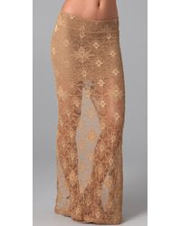 Nightcap | Natural Back Slit Lace Maxi Skirt | Lyst