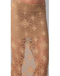 Nightcap | Natural Back Slit Lace Maxi Skirt | Lyst