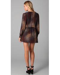Parker Brown Faux Wrap Dress