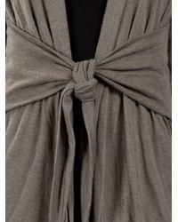 Rick Owens Lilies Gray Wrap Cardigan