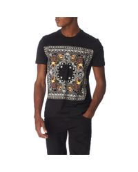 Givenchy Black Bandana Print T–shirt for men